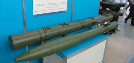 Макет ракеты 9М123 и ее транспортно-пускового контейнера.