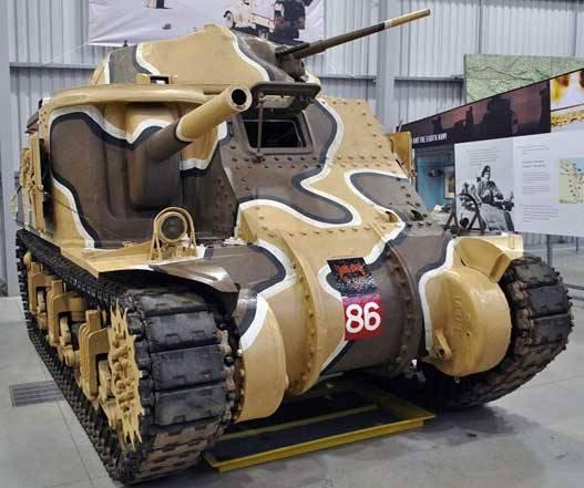 М3 «Генерал Грант» в музее в Бовингтоне