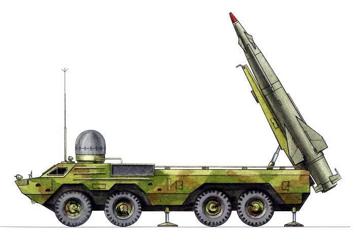 Ракетный комплекс в боевом положении.