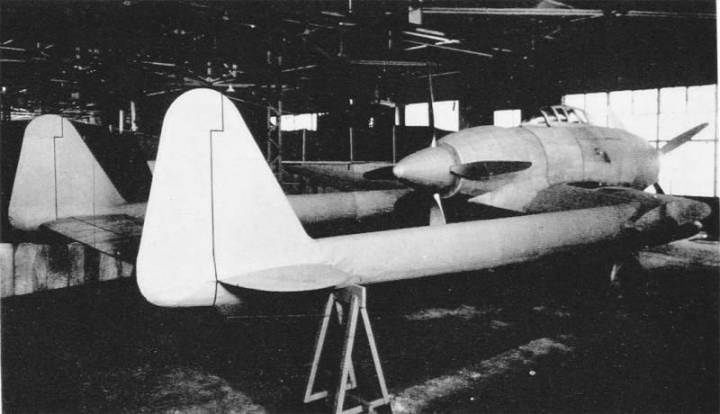 Цельнодеревянный макет Ki-94