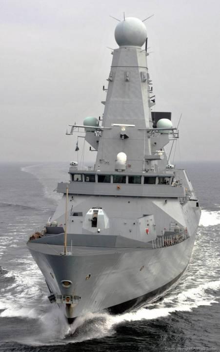 эсминец «Type 45» класса HMS «Daring» Королевского ВМФ Великобритании