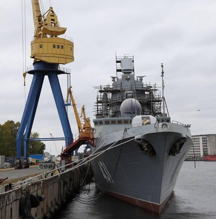 Произведен пробный пуск маршевых двигателей фрегата «Адмирал флота Касатонов»